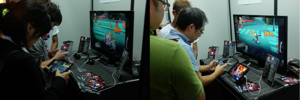 Notable people from NamcoBandai and Square Enix were playing our game